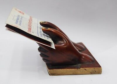 Business Card Holder Unique Hand Shaped Resin For Decor Gift Office