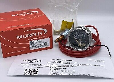 6ft Murphy 20t-250-6-12 250 Degree Temperature Gauge For Equipment Chippers