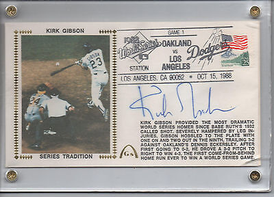 1988 WORLD SERIES COMPLETE 6 CACHETS 6 SIGNATURES McGwire, Gibson, Orel, Hatcher