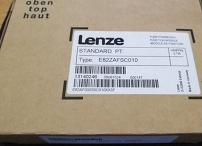 New & Genuine LENZE Inverter Series 8200 Vector - I/O PT E82ZAFSC010