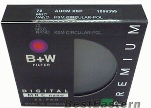 B+W 72mm XS-Pro Kaesemann Circular Polarizer CPL  Nano Coating Filter