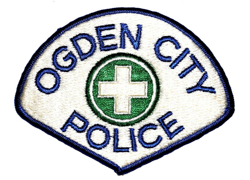 OGDEN CITY UTAH UT Sheriff Police Patch GREEN CROSS VINTAGE OLD ~