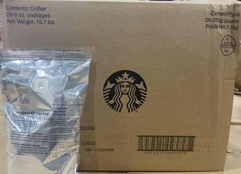 Starbucks 15.75lbs Pike Place Medium Roast Ground Coffee 28 x 9oz Bags BBD 10/20