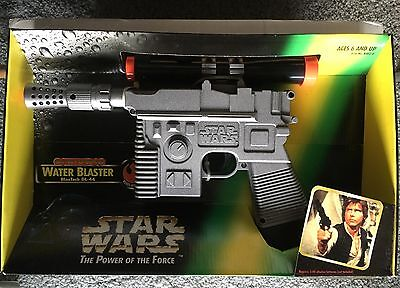 STAR WARS BATTERY POWERED WATER BLASTER Hans Solo RARE IN BOX COLLECTIBLE