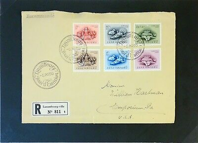 Luxembourg 1955 Christmas First Day Cover / Reg to USA - Z3142 ()