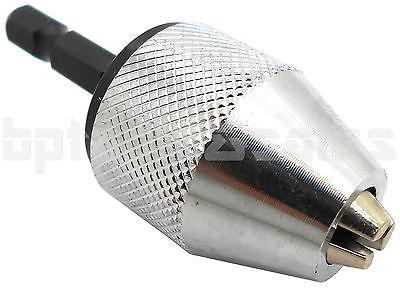 "1/4"" Inch Keyless Drill Bit Chuck Quick Change Adapter Converter Hex Shank NEW"
