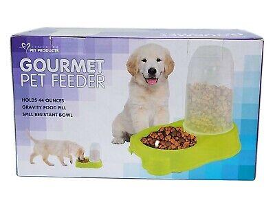 Mascota Comida Dispensador Perro Gato Automático Comedero Cuenco Alto Capacidad