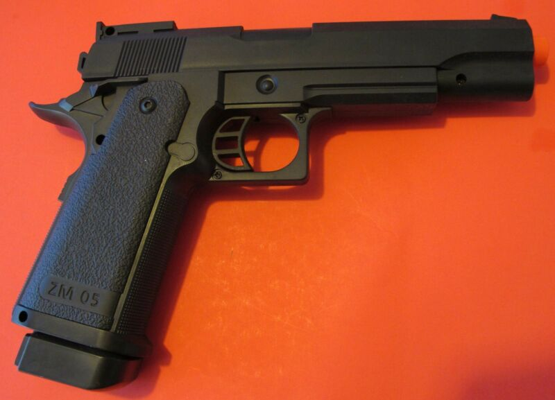 Heavy Weight Metal Core Airsoft Spring Pistol Hi-Capa Style Shoot at 240 FPS