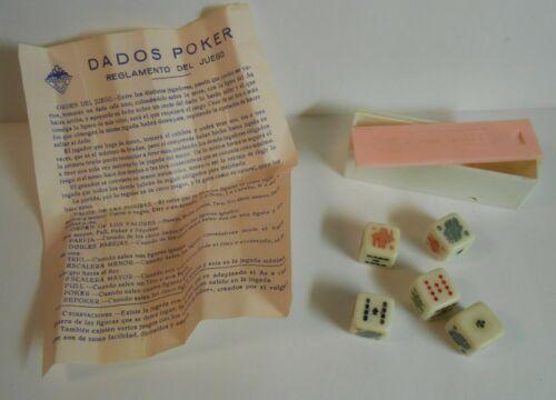 Vintage DADOS POKER Dice Game