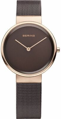 Bering Time Classic Ladies Pink & Brown Milanese Mesh Watch 14531-262