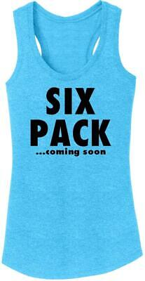 Ladies Six Pack Coming Soon Tri-Blend Tank Top Workout Gym F