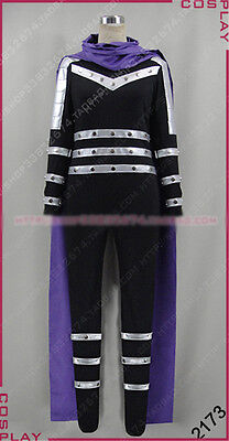 ONE PUNCH-MAN Sonic Cosplay Costume Black Purple Fighting Full Set Free Shipping - Mens Sonic Costume