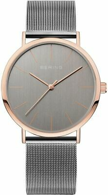 Bering Time - Classic - Unisex Grey & Pink Milanese Mesh Watch 13436-369