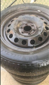 Four tires with regular rims