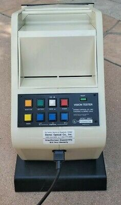 Optec 2000 Vision Stereoscope Optical Eye Tester Nearly New Wslides Works Great