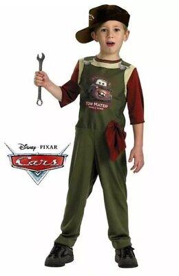 New Disney Pixar Cars Tow Mater Mechanic Toddler Costume Medium 4-6