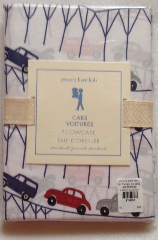 POTTERY BARN KIDS LANDON CARS Pillow Case Standard