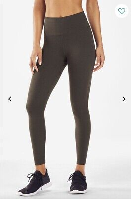 FABLETICS High Waisted Solid PowerHold  Heathered leggings- EXTRA SMALL XS