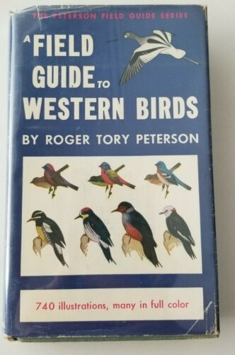 SIGNED Vintage FIELD GUIDE TO WESTERN BIRDS Peterson HD/DJ VG