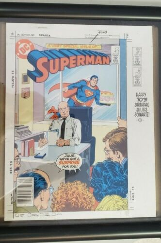 1985 D.C. Superman 4+ pages Engravers Proof set Color overlays with Comic