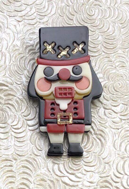 Unique  nutcracker soldier Christmas brooch  In acrylic