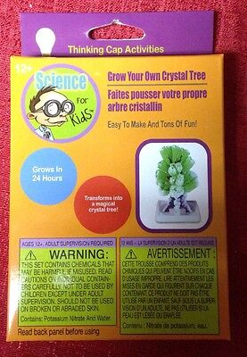 Science for Kids ~ Grow Your Own Crystal Tree ~ Grows In 24 Hrs~ Ages 12+ New