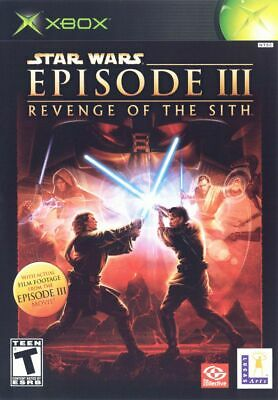 STAR WARS EPISODE 3 REVENGE OF THE SITH for Original Microsoft Xbox (Star Wars Revenge Of The Sith Game)