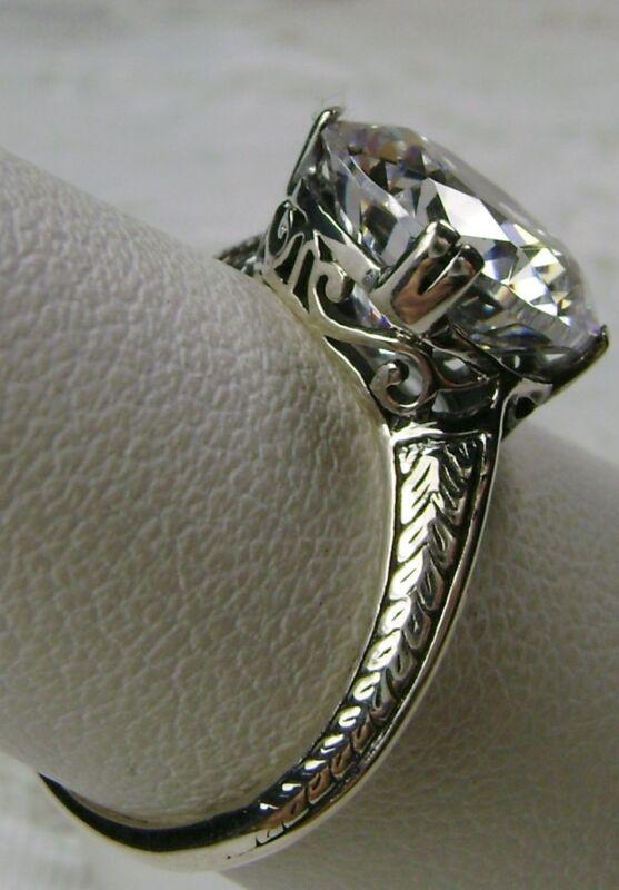 3ct White Gem Sterling Silver 1930