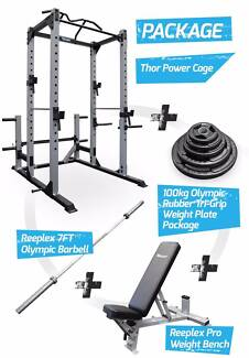 THOR POWER CAGE 120KG OLYMPIC RUBBER PACKAGE