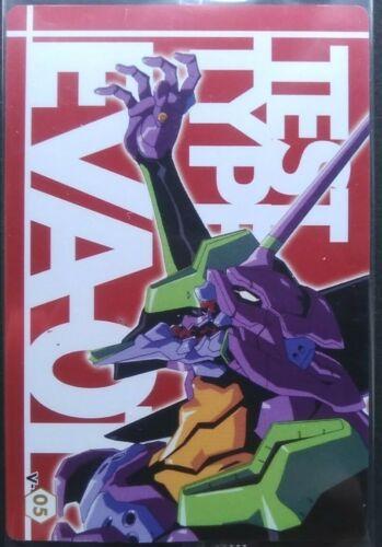 EVA-01 Test Type EVANGELION Card Japanese Anime Manga Rare V-05 wafer chap8 F/S