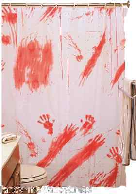 Weiß Rot Blutig Blood Fleck Halloween Party Badezimmer Dekoration Duschvorhang