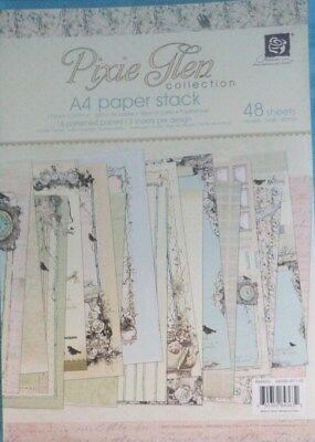 "PRIMA MARKETING Designpapier Block ""PIXIE GLEN"" A4,Vintage,Nostalgie,Shabby Chic"