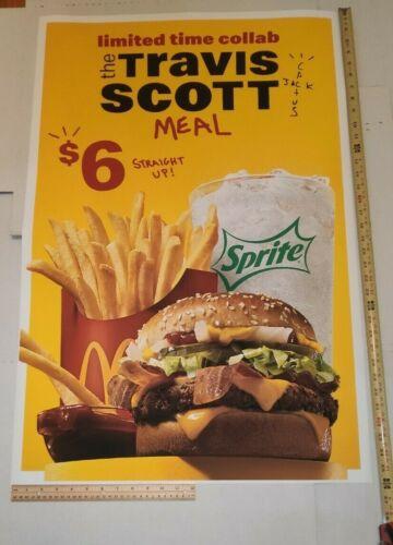 "Travis Scott Mcdonalds Poster 36"" x 24"" Recreation"
