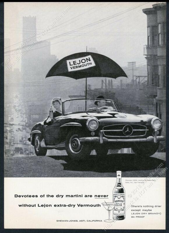 1959 Mercedes Benz 190SL 190 SL photo Lejon vermouth vintage print ad