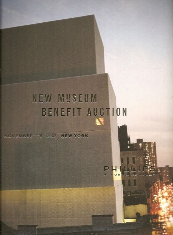 Phillips Sale NY010407 Contemporary Art New Museum Benefit Auction Catalog 2007