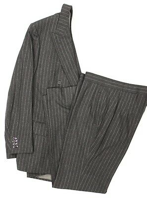 """""""Classic Alfred Dunhill Tailors Char Grey Flannel DB Suit"""""""