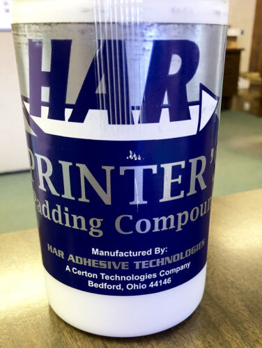 HAR Padding Compound White for Making Note Pade - Quart  8112