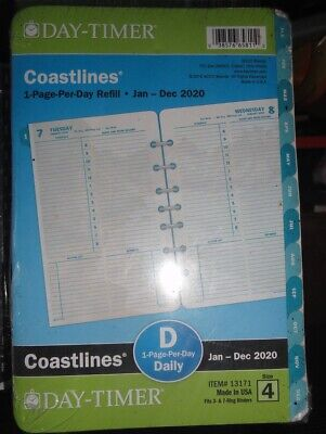 Day-timer 2020 Coastlines 1-page-per-day Planner Refill 8.25 X 5.5 Sz 4