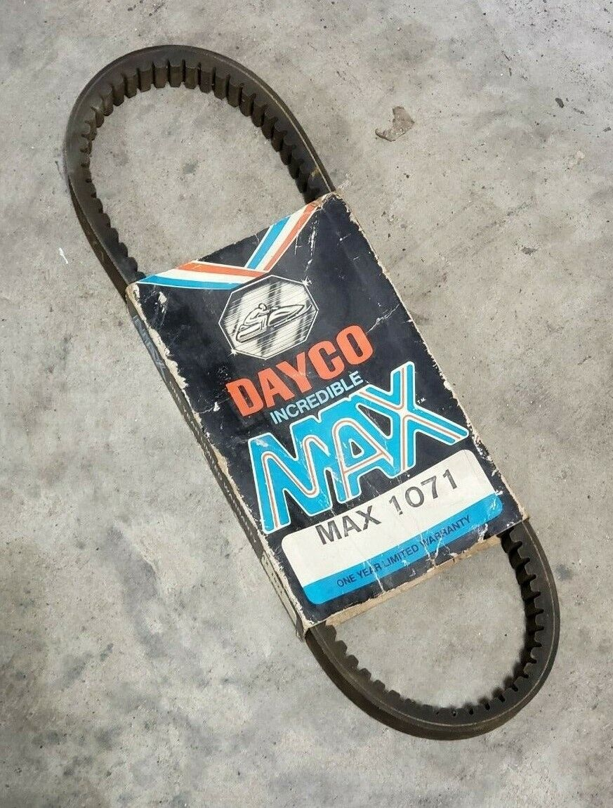 Snowmobile Drive Belt DAYCO MAX Vintage MAX1071 John Deere
