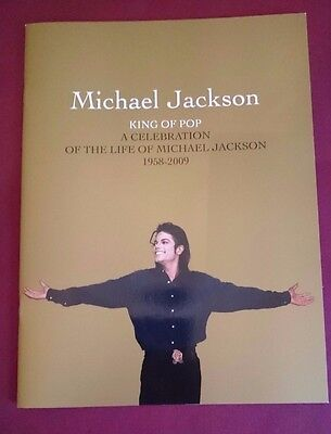 MICHAEL JACKSON OFFICIAL MEMORIAL PROGRAMME A CELEBRATION OF THE LIFE FUNERAL