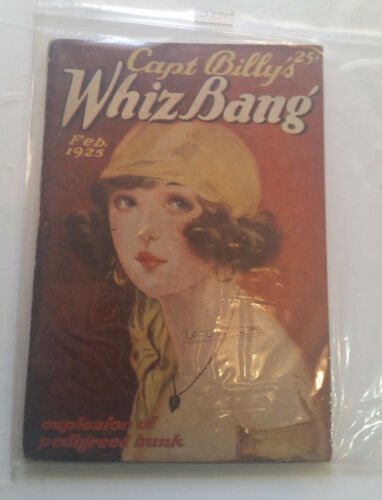 CAPTAIN BILLY'S WHIZ BANG magazine 1925 Vol VI No 69 cartoons SATIRE comics capt