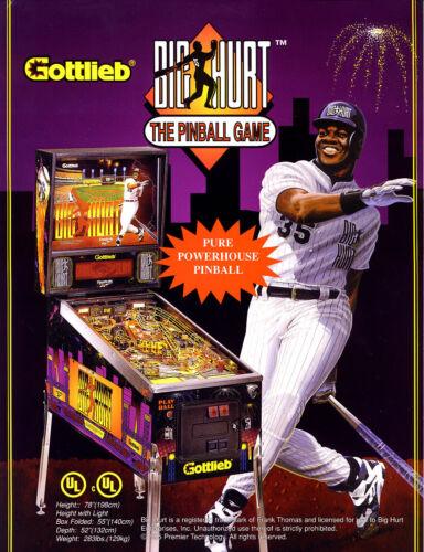 Frank Thomas BIG HURT Pinball Machine FLYER Original 1995 NOS Baseball Artwork