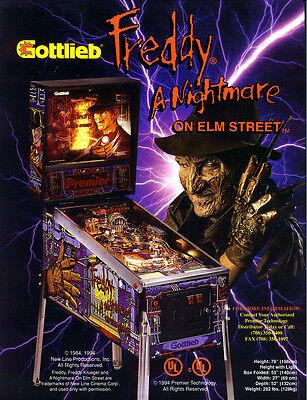 FREDDY A NIGHTMARE ON ELM STREET Gottlieb Pinball Machine Flyer Halloween NOS