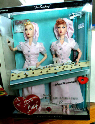 "2008 PINK LABEL BARBIE AS ""I LOVE LUCY"" EPISODE 39 JOB SWITCHING GIFT SET NRFB!"
