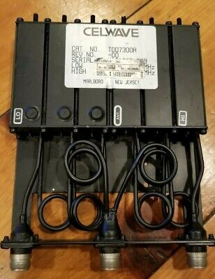 Radio Frequency Systems Celwave Tdd7300a Vhf 6 Cavity Duplexer Radio Mobile