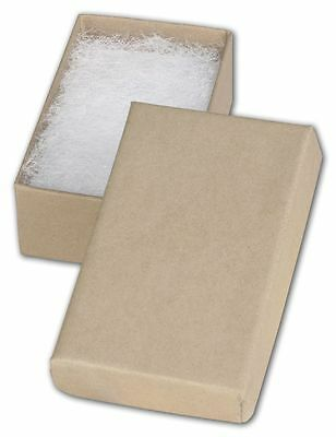 Jewelry Gift Boxes 100 21 Retail Earring Cotton Filled 2 X 1 X 78 Kraft