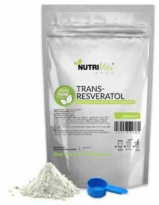 2X 4 Months Supply (8 Months) 100% PURE Trans Resveratrol Anti-Aging Powder