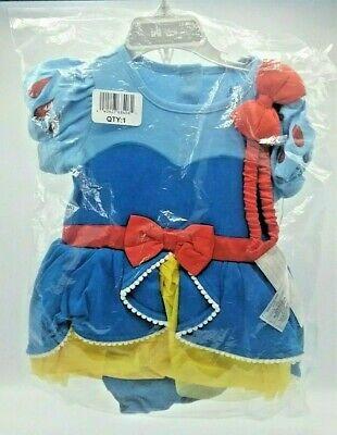 Walt Disney Store Snow White Baby Bodysuit Costume Dress Headband 18-24 - Walt Disney Costumes