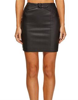Kookai leather mini skirt black size 36 / 6 BNWT