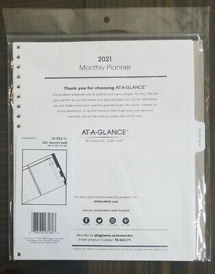 At-a-glance 2021 Monthly Planner Refill For 70-236 Or 70-296 9 X 11